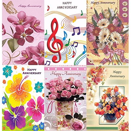 Assorted Happy Anniversary Greeting Cards in a Bulk 12 Pack](Dreidels In Bulk)