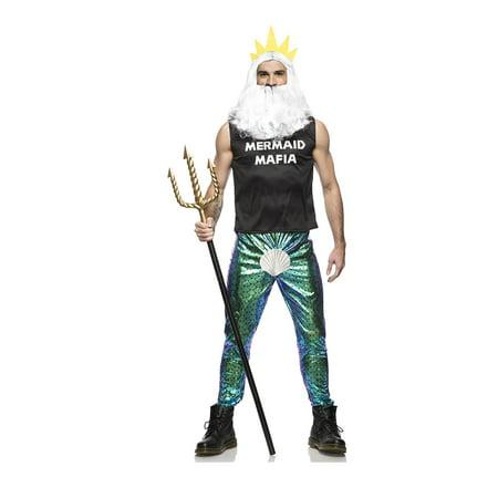 Mermaid Mafia Men's Costume - Mafia Pinstripe Suit