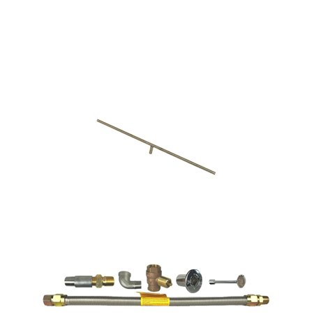 Spotix HPC Linear T-Burner Fire Pit Kit, 36