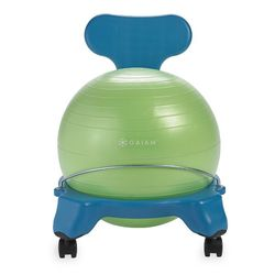 Gaiam Kids Balance Ball Chair, Blue/Green