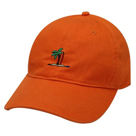 City Hunter C104 Surfing Board Cotton Baseball Dad Cap 19 Colors (Orange) (Surfing Baseball Caps)