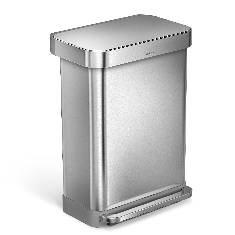 simplehuman 55 liter rectangular hands-free kitchen step