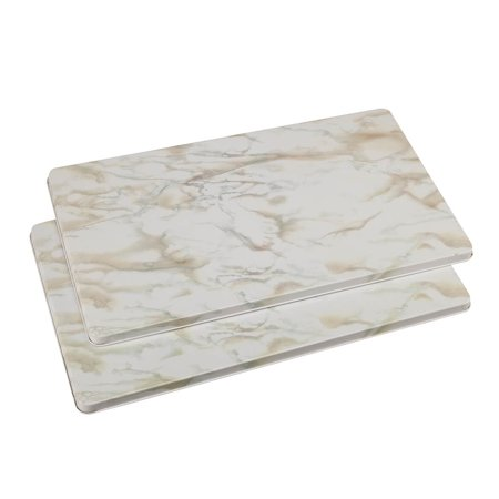 White Marble Burner Covers Set of 2