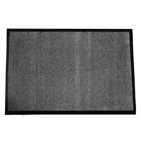 Entrance Matting - durable 654s46ch wipe-n-walk entrance mat, 4 x 6 in. - charcoal
