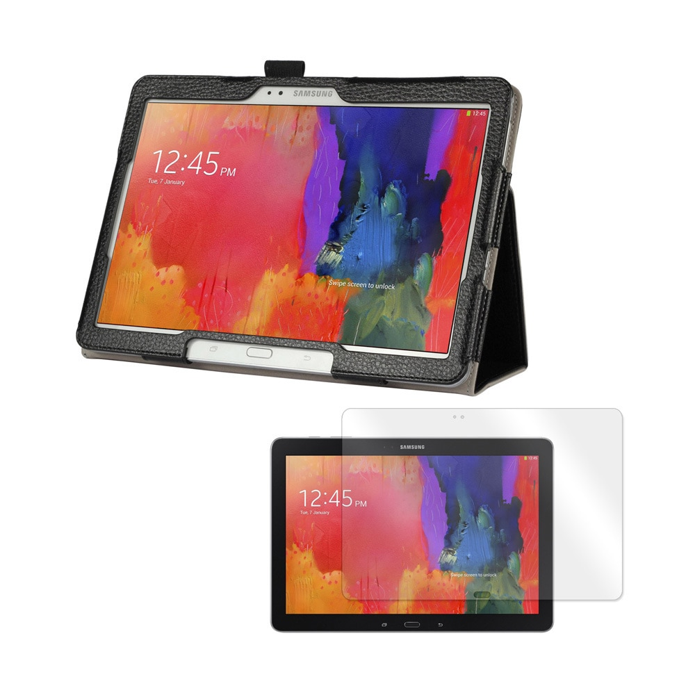 Mgear Accessories Black Folio Case with Screen Protector and Car Charger for Samsung Galaxy Tab Pro 12.2 Tablet