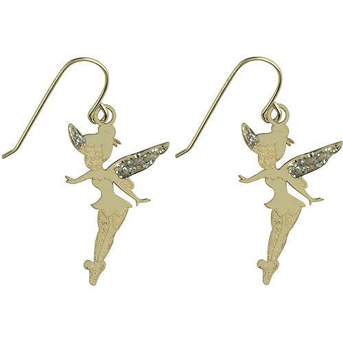 Disney 10kt Gold Tinkerbell Dangle Earrings