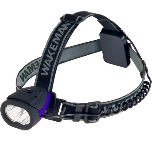 LED Headlamp Water Resistant Hands Free Flashlight With 160 Lumen and 2 SMD By Wakeman Outdoors