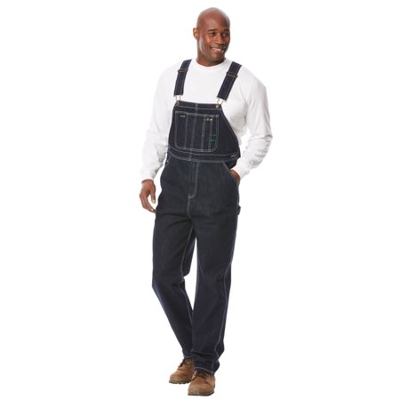 Boulder Creek Men's Big & Tall Denim Overalls](Striped Overalls)