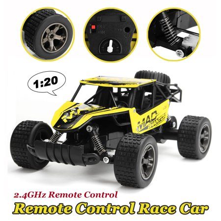 1:20 2.4G Remote Control Off-Road Monster Truck High Speed RC Buggy Race Car Yellow Toy Valentine Christmas Gift ()