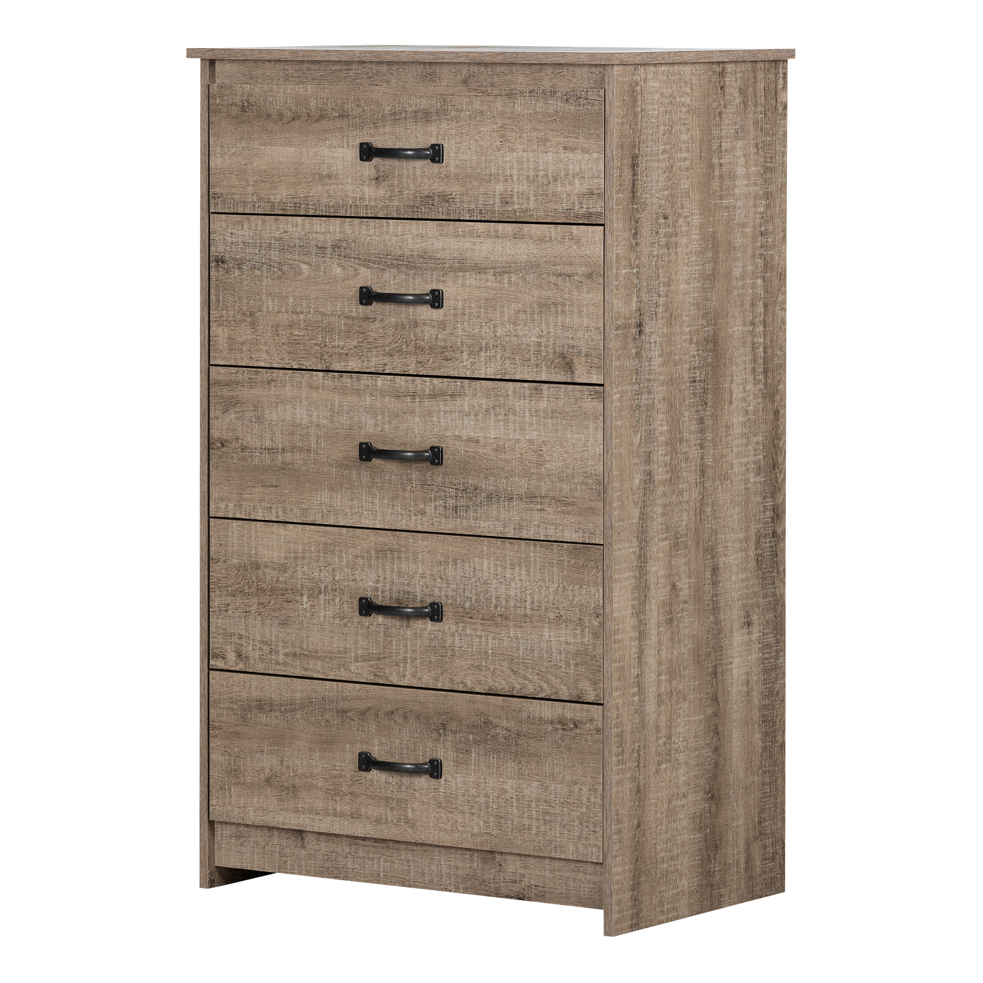 South Shore Tassio 5-Drawer Chest, Weathered Oak
