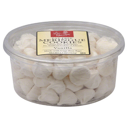 ***Discontinued by Kehe 07_20***Miss Meringue Vanilla Fat Free Meringue Cookies, 5.7 oz, (Pack of 12)