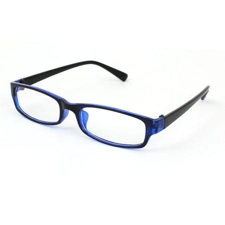 Unique Bargains Ladies Black Blue Plastic Full Frame Clear ...
