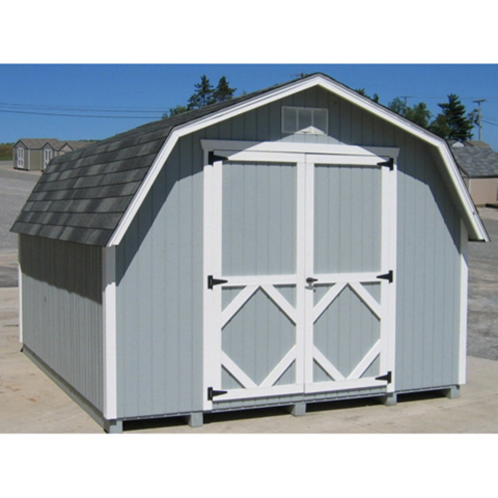 Little Cottage 10 x 8 ft. Classic Wood Gambrel Barn Panelized Storage Shed