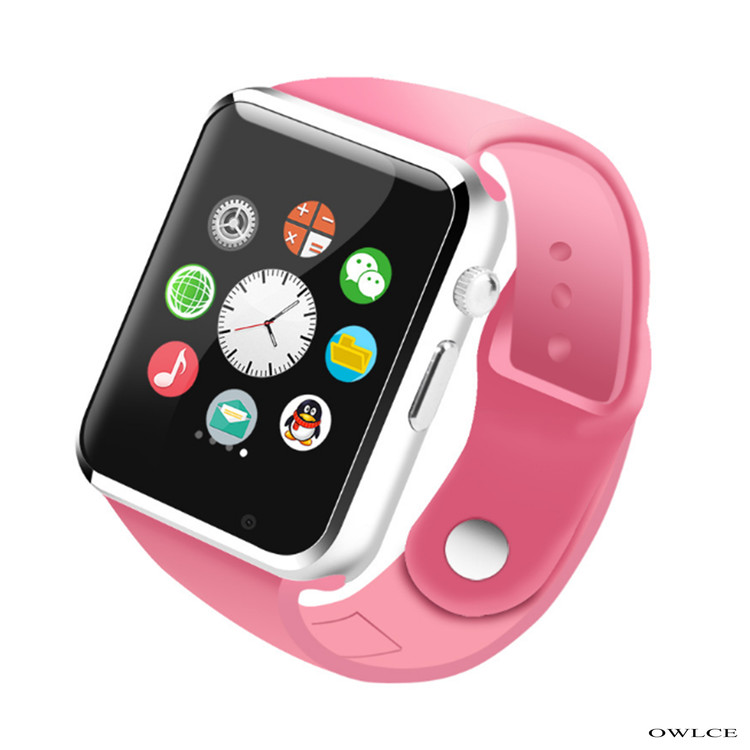 iphone smart watch smart pink wireless bluetooth watches a1 wrist 9761