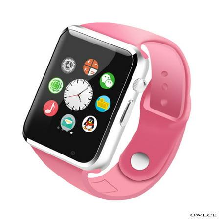 Smart Watch Pink Wireless Bluetooth Watches A1 Wrist ...  Iphone Watch Phone