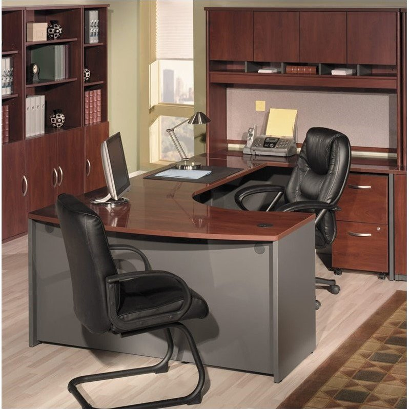 Bush Business Series C 4-Piece Right-Hand Bow Front Desk