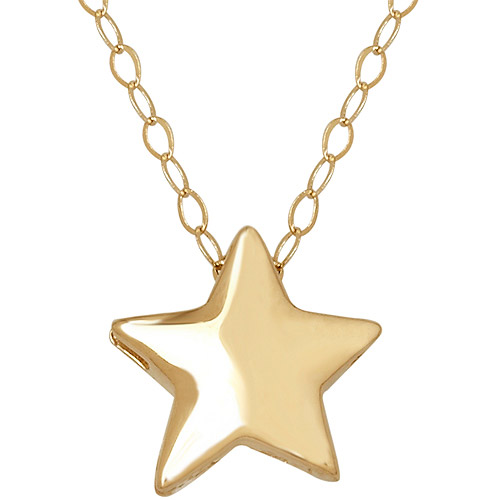 Simply Gold 14kt Yellow Gold Teeny Tiny Star Pendant, 17""