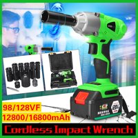 98/128/168/188VF 280 N. m Brushless Cordless Impact Wrench Drill LED lights Electric Screwdriver Set With Socket Set With Box
