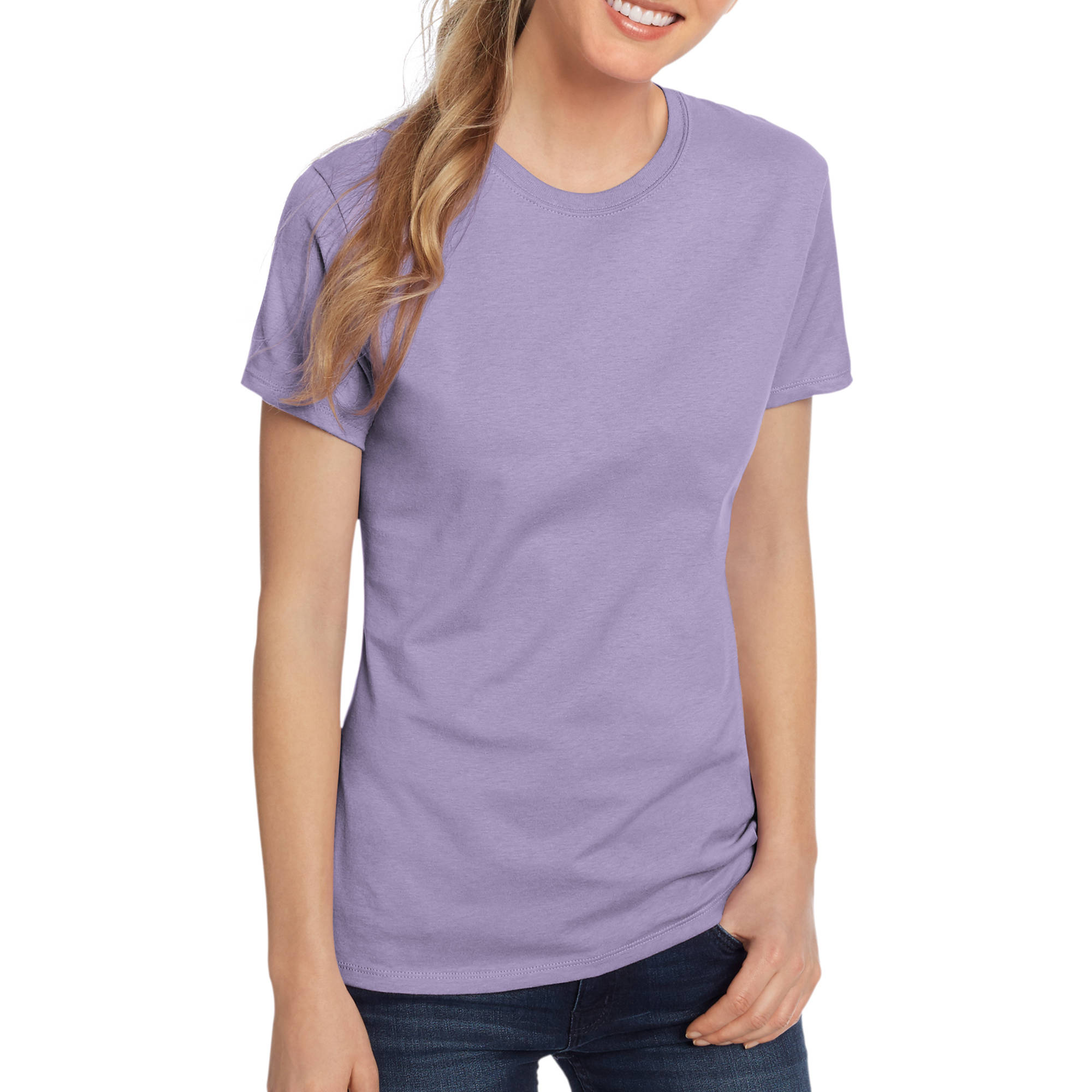 Hanes Women's Lightweight Short Sleeve Scoop neck T-Shirt