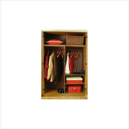 Ameriwood Home 48u0022 Two-Door Wardrobe Armoire in City Oak