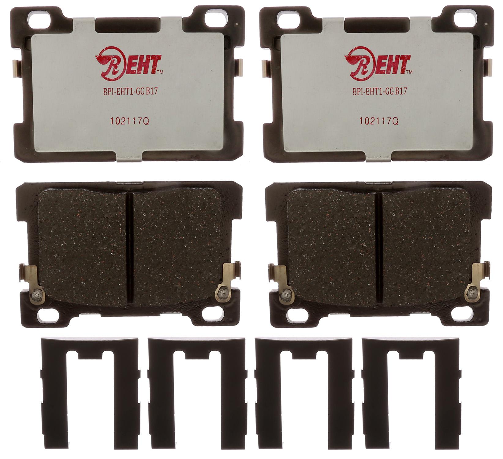 Raybestos Brakes EHT1976H Brake Pad Enhanced Hybrid Technology OE Replacement; Hybrid; With Mounting Hardware - image 1 de 1