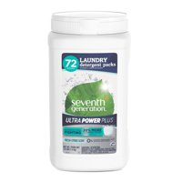 Seventh Generation Ultra Power Plus Laundry Detergent Packs Fresh Citrus 72 count