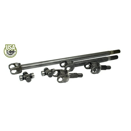 USA Standard 4340 Chrome-Moly Replacement Axle Kit For 77-91 GM Dana 60 Front / 35