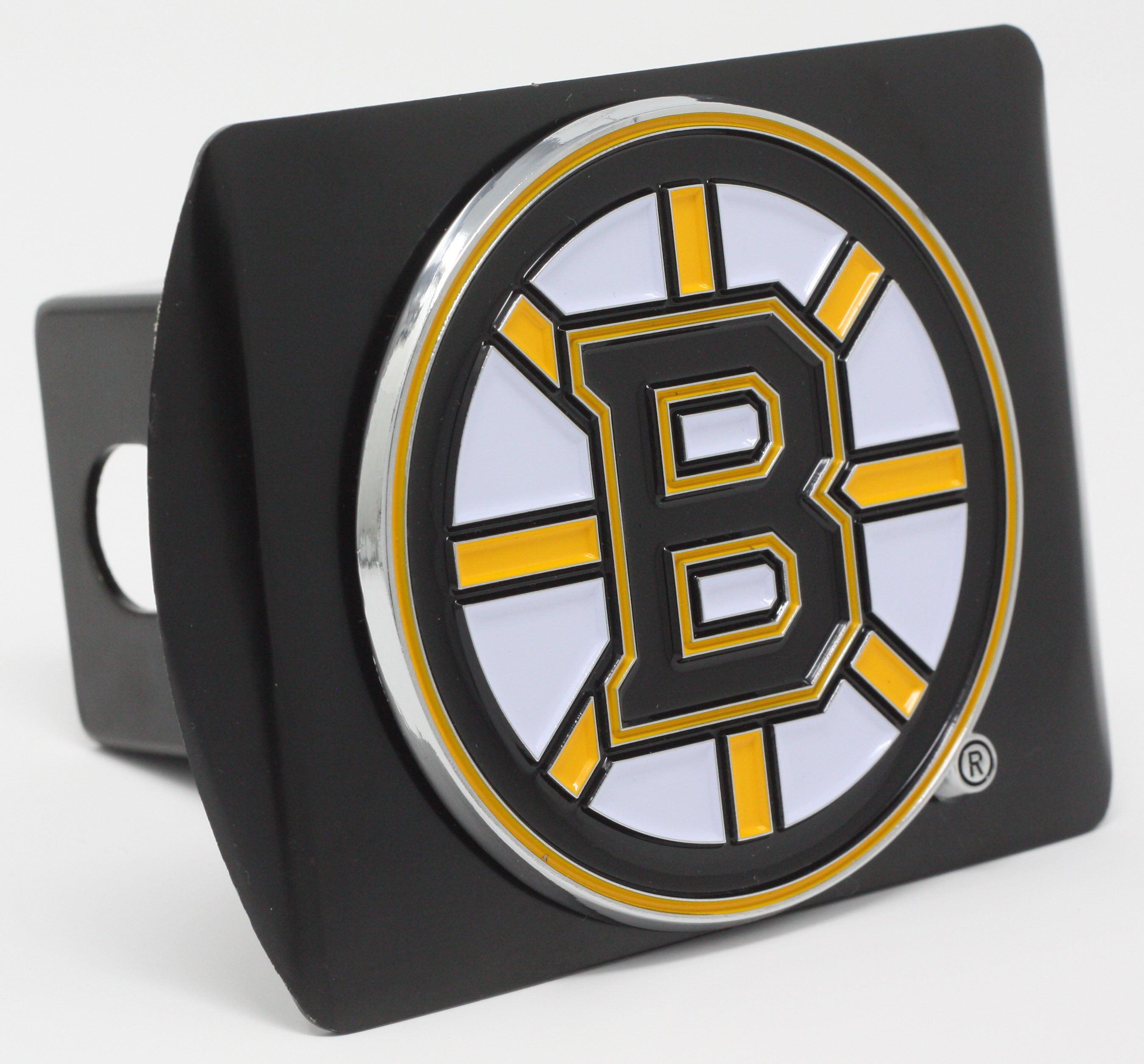 "Boston Bruins Color Metal Hitch Black 3.4""x4"""