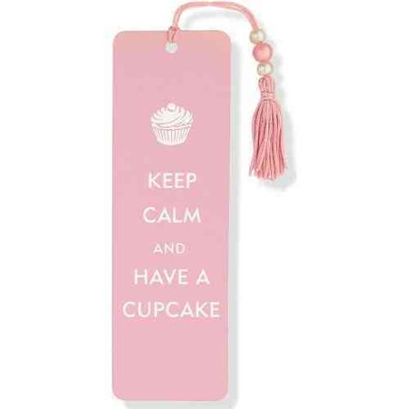 Keep Calm and Have a Cupcake Beaded Bookmark ()