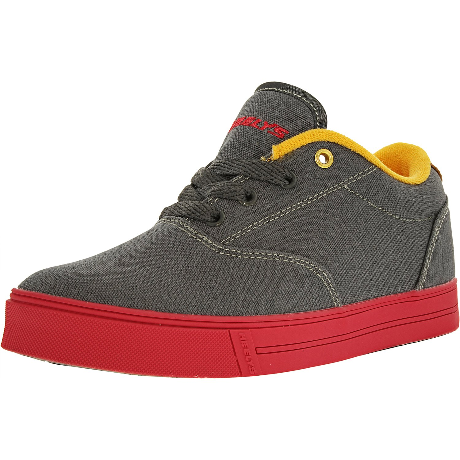 Heelys Launch Charcoal/Neon Red/Orange Ankle-High Fashion Sneaker - 3M