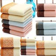 Cotton Bath Towel Set Hand Towels Wash Cloths Soft Bath Sheets Bathroom Towels