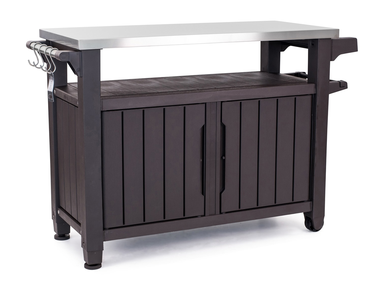 Keter Unity XL Resin Serving Station, All-Weather Plastic and Metal Grill, Storage and... by Resin Furniture