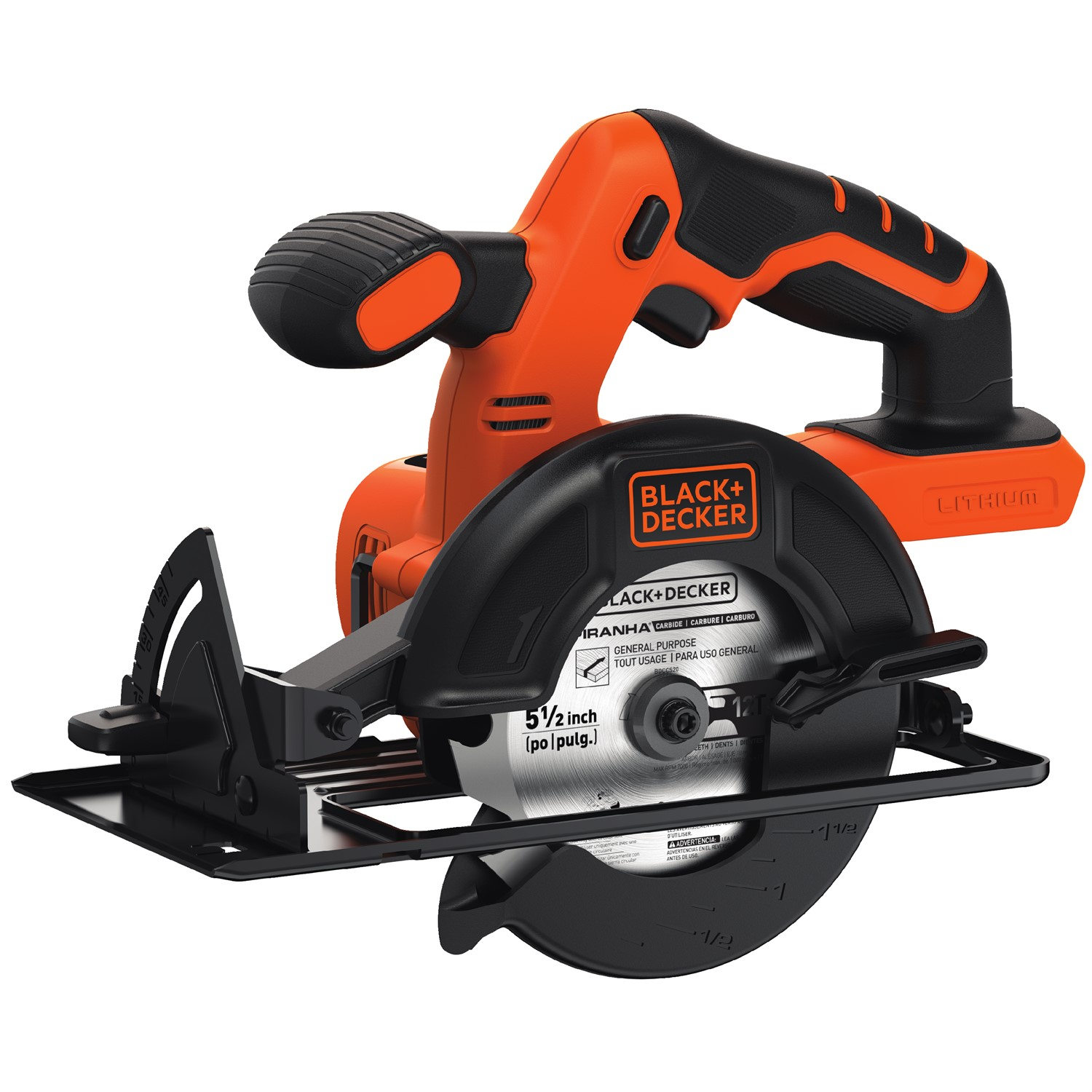 BLACK+DECKER 20-Volt Max Lithium-Ion Cordless 5-1/2-Inch Circular Saw, Bare Tool (No Battery), Bdccs20B