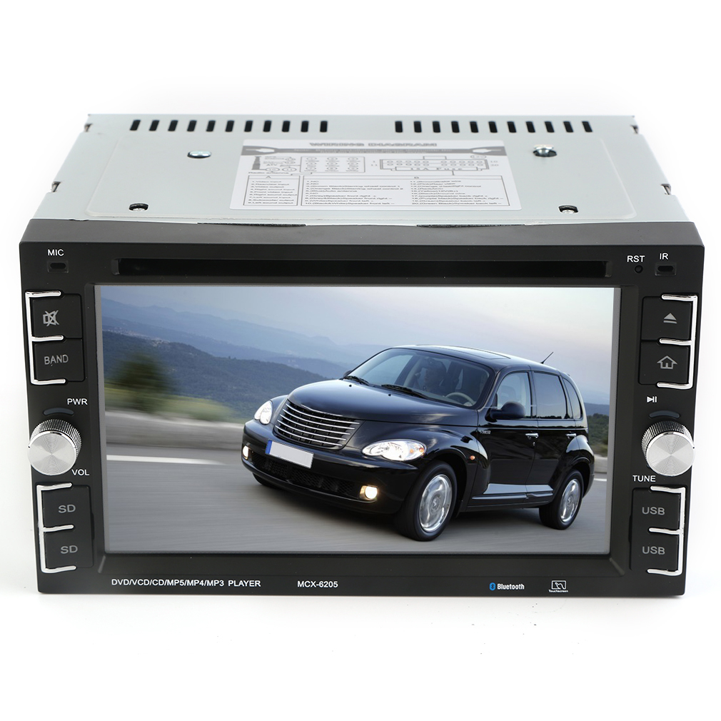6205 GPS Navigation HD Double 2 DIN Car Stereo DVD Player Radio Bluetooth iPod MP3 by LESHP