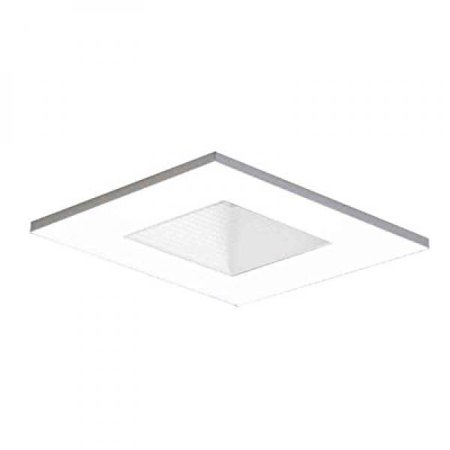 Halo Recessed 3012WHWB 3-Inch 15-Degree Trim Lensed Square Shower Light with Baffle, White