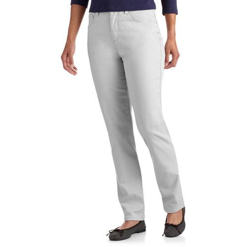 GLO by Gloria Vanderbilt Women's Petite Embellished Mandie Classic Fit Straight-Leg Jeans