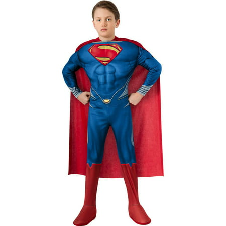 Man of steel: superman deluxe toddler costume Toddler (2-4t) - Toddler Superman Costumes
