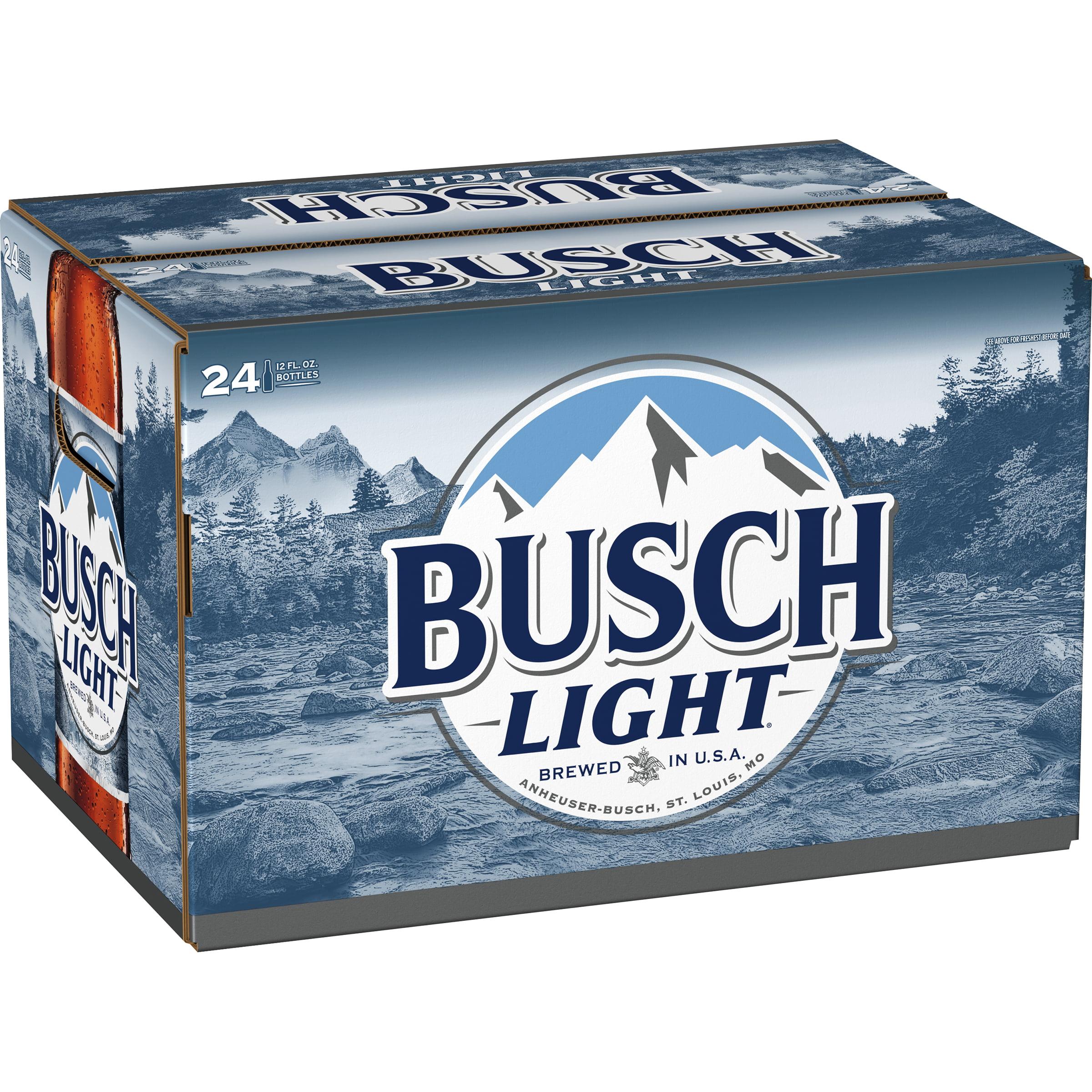 Busch Light Beer 24 Pack 12 Fl Oz Bottles 4 1 Abv Walmart Com Walmart Com