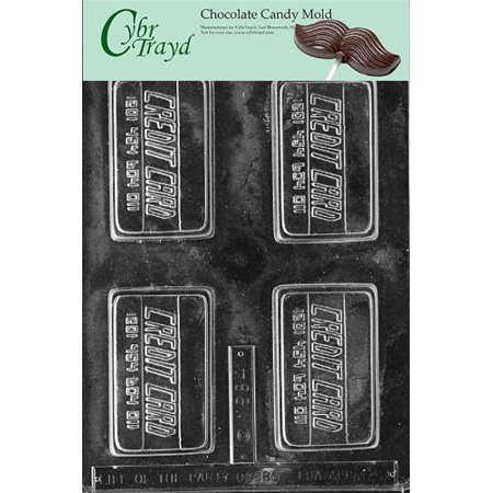 Cybrtrayd M029 Charge It Miscellaneous Chocolate Candy Mold