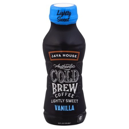 Java Giant Coffee - (12 Bottes) Java House Authentic Cold Brew Coffee, Vanilla - Lightly Sweet, 10 Oz