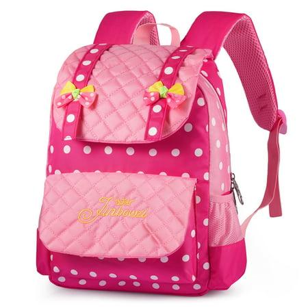 bc6b5d0365dd VBIGER - Cute Kids Girls Boys School Bag Polkka Dots Bowknot Backpack Girls  Book Bag Travel Daypack Children School Backpacks - Walmart.com
