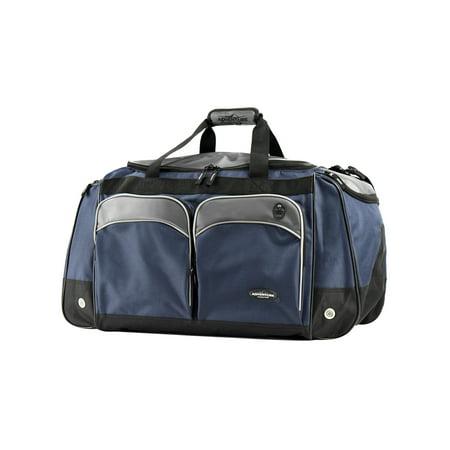 "Travelers Club 28"" Jumbo Multi-Pocket Duffel - Blue 6"