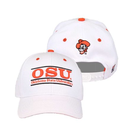 oklahoma state cowboys adult game bar adjustable hat - white