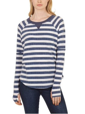 41df3634a423 Product Image Women's Striped Thumbhole Pullover