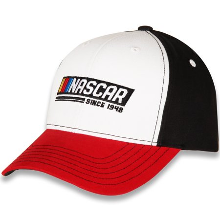 Men's Checkered Flag White/Red NASCAR Adjustable Hat - OSFA