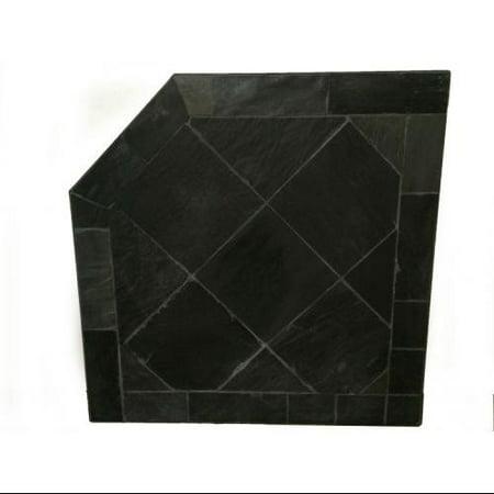 40 X 40 Corner Pad Black Slate Stone ()