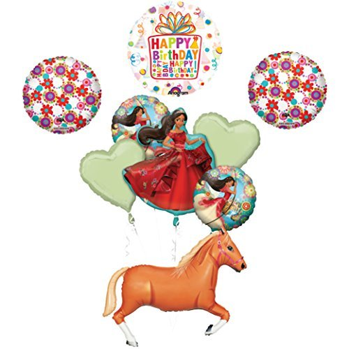 "ELENA OF AVALOR 43"" Tan Horse Happy Birthday Party Supplies Balloons"