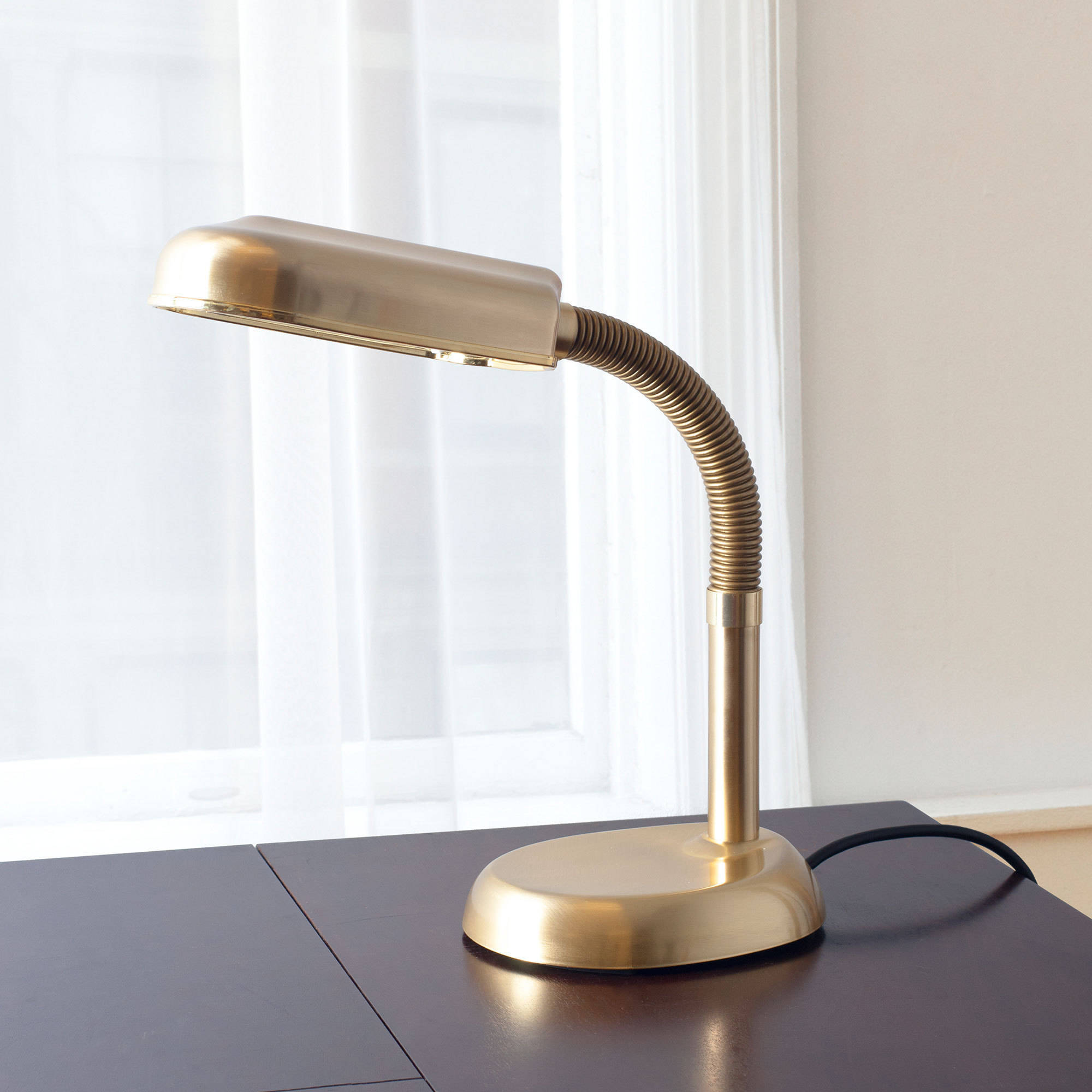 Natural Sunlight Adjustable Gooseneck Desk Lamp by Lavish Home