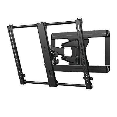 sanus premium full motion tv wall mount bracket for 37 50 tvs features 15 of tilt 90 of swivel. Black Bedroom Furniture Sets. Home Design Ideas