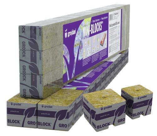 Grodan 1.5 Inch Starter Mini-Blocks MM40/40 - 45 Count